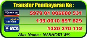 Rekening Transfer pembayaran